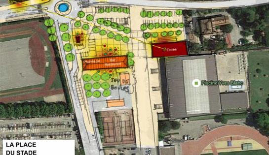 Quelques propositions préliminaires d'aménagement pour la place Yves Blanc