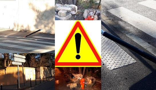 Accident avenue Préaud et sécurité