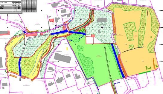 Futur parc: plan des terrains acquis en août 2018