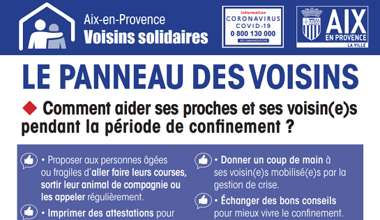 Covid19: voisins solidaires