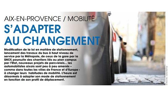 """Stationnement et mobilité: """"S'adapter au changement"""""""