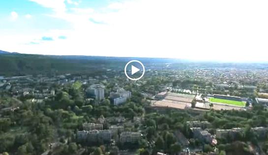 Le quartier : une vue du ciel!