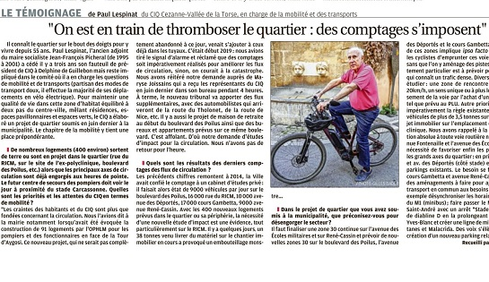 Mobilités: le CIQ s'exprime dans La Provence
